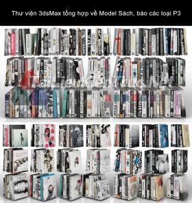 Thư viện 3dsMax tổng hợp về Model Sách, báo các loại P3