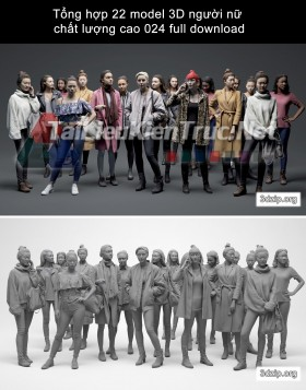 Tổng hợp 22 model 3D người nữ chất lượng cao 024 full download