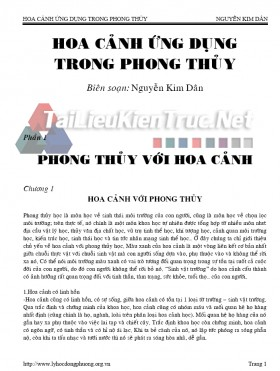Sách hoa cảnh ứng dụng trong phong thủy biên soạn Nguyễn Kim Dân