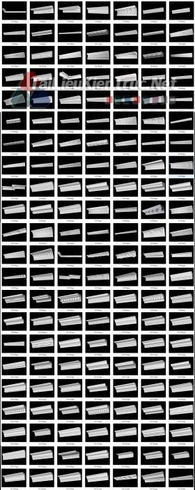 Thư viện 3DsMax về 100 chi tiết Phào chỉ thạch cao tân cổ điển P5 full 3d và cad