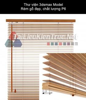 Thư viện 3dsmax Model Rèm gỗ đẹp, chất lượng P6