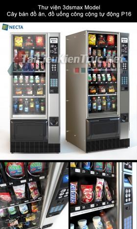 Thư viện 3dsmax Model Cây bán đồ ăn, đồ uống công cộng tự động P16