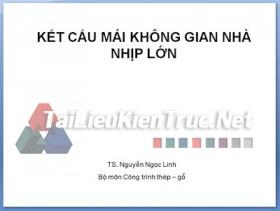 Kết cấu mái không gian nhà nhịp lớn- TS. Nguyễn Ngọc Linh