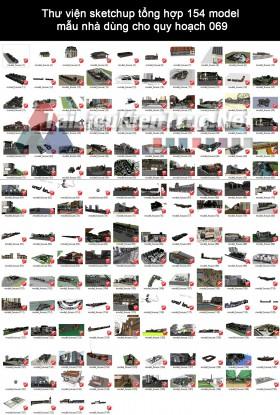 Thư viện Sketchup tổng hợp 154 Model mẫu nhà dùng cho quy hoạch 069