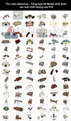 Thư viện Sketchup - Tổng hợp 84 Model Ghế Sofa các loại chất lượng cao 016