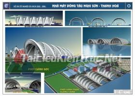 Đồ án tốt nghiệp KTS nhà máy đóng tàu nghi sơn Thanh Hóa MS147