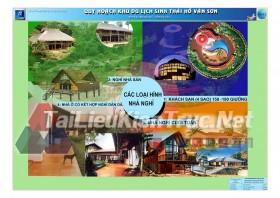 Đồ án tốt nghiệp KTS Quy hoạch khu du lịch sinh thái Hồ Văn Sơn