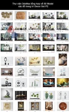 Thư viện 3dsMax tổng hợp về 50 Model các đồ trang trí decor set P2