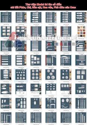 Thư viện Model 3d tân cổ điển chi tiết Phào, Chỉ, Đầu cột, Hoa văn, Phù điêu của Orac