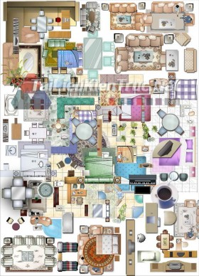 Thư viện mặt bằng Photoshop tổng hợp về Các loại đồ đạc trong nhà 028 download