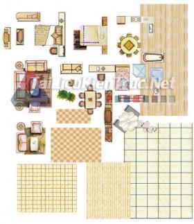Thư viện mặt bằng Photoshop tổng hợp về Các loại đồ đạc trong nhà 032 dowload