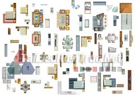 Thư viện mặt bằng Photoshop tổng hợp về Các loại đồ đạc trong nhà 033 dowload