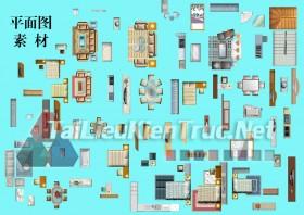 Thư viện mặt bằng Photoshop tổng hợp về Các loại đồ đạc trong nhà 034 dowload