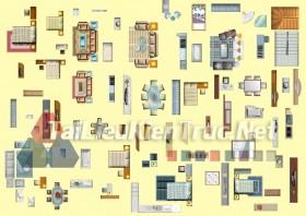 Thư viện mặt bằng Photoshop tổng hợp về Các loại đồ đạc trong nhà 036 dowload