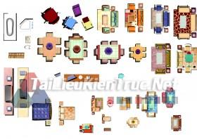 Thư viện mặt bằng Photoshop tổng hợp về Các loại đồ đạc trong nhà 038 dowload