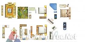 Thư viện mặt bằng Photoshop tổng hợp về Các loại đồ đạc trong nhà 039 dowload