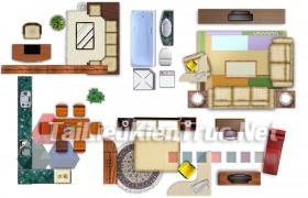 Thư viện mặt bằng Photoshop tổng hợp về Các loại đồ đạc trong nhà 040 dowload