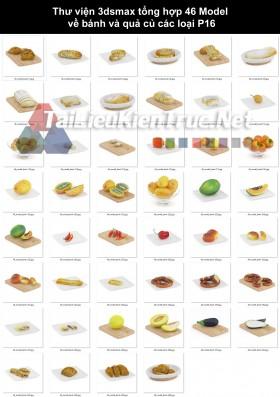 Thư viện 3dsmax tổng hợp 46 Model về bánh và quả củ các loại p16