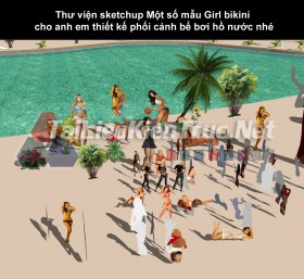 Thư viện sketchup Một số mẫu Girl bikini cho anh em thiết kế phối cảnh bể bơi hồ nước nhé