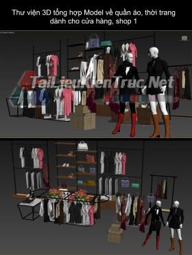 Thư viện 3D tổng hợp Model về quần áo thời trang dành cho cửa hàng, shop 1
