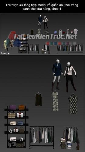 Thư viện 3D tổng hợp Model về quần áo thời trang dành cho cửa hàng, shop 4