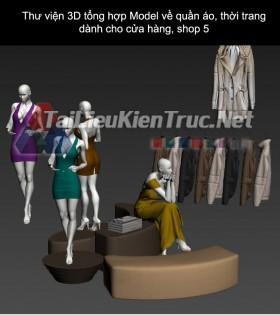 Thư viện 3D tổng hợp Model về quần áo thời trang dành cho cửa hàng, shop 5