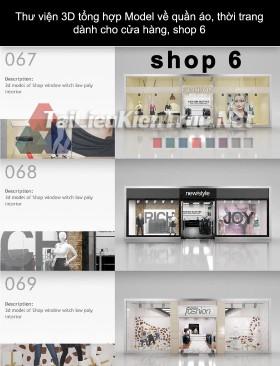 Thư viện 3D tổng hợp Model về quần áo thời trang dành cho cửa hàng, shop 6