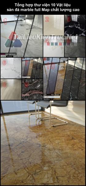 Tổng hợp thư viện 10 Vật liệu sàn đá marble full Map chất lượng cao