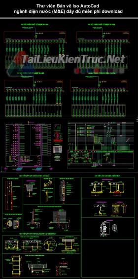 Thư viện Bản vẽ Iso AutoCad ngành điện nước (M&E) đầy đủ miễn phí download