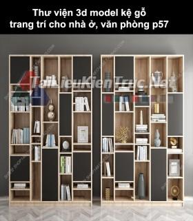 Thư viện 3d model kệ gỗ trang trí cho nhà ở, văn phòng P57
