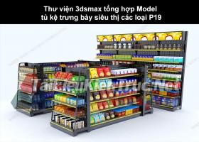 Thư viện 3dsmax tổng hợp Model tủ kệ trưng bày siêu thị các loại P19