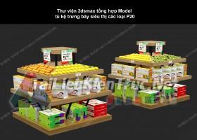 Thư viện 3dsmax tổng hợp Model tủ kệ trưng bày siêu thị các loại P20
