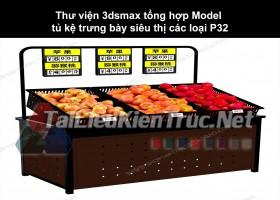 Thư viện 3dsmax tổng hợp Model tủ kệ trưng bày siêu thị các loại P32
