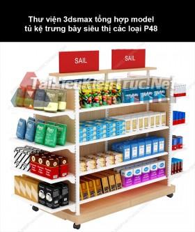 Thư viện 3dsmax tổng hợp Model tủ kệ trưng bày siêu thị các loại P48