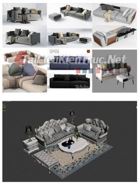 Thư viện Tổng hợp 7 File 3D model Sofa cực đẹp P17