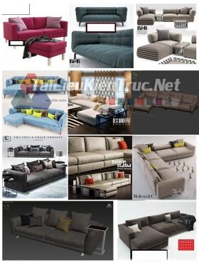 Thư viện Tổng hợp 11 File 3D model Sofa cực đẹp P18