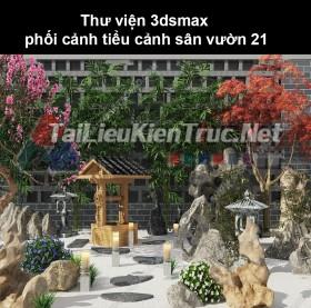 Thư viện 3dsmax phối cảnh, tiểu cảnh sân vườn 21