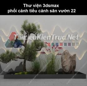 Thư viện 3dsmax phối cảnh, tiểu cảnh sân vườn 22