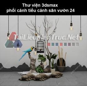 Thư viện 3dsmax phối cảnh, tiểu cảnh sân vườn 24