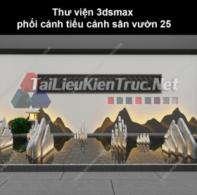 Thư viện 3dsmax phối cảnh, tiểu cảnh sân vườn 25