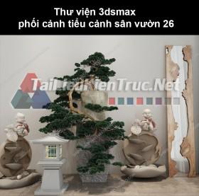 Thư viện 3dsmax phối cảnh, tiểu cảnh sân vườn 26