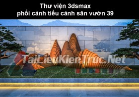 Thư viện 3dsmax phối cảnh, tiểu cảnh sân vườn 39