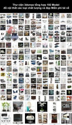 Thư viện 3dsmax tổng hợp 192 Model đồ nội thất các loại chất lượng và đẹp Miễn phí tải về