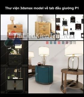 Thư viện 3dsmax model về tab đầu giường P1