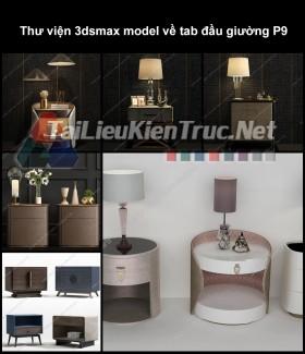 Thư viện 3dsmax model về tab đầu giường P9