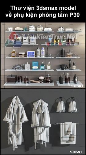Thư viện 3dsmax model về phụ kiện đồ đạc phòng tắm P30