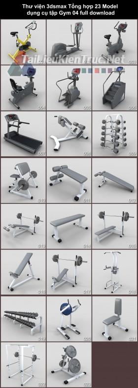 Thư viện 3dsmax Tổng hợp 23 Model dụng cụ tập Gym 04 full download