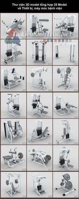 Thư viện 3dsmax Tổng hợp 21 Model dụng cụ tập Gym 05 full download