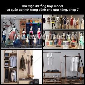 Thư viện 3D tổng hợp Model về quần áo thời trang dành cho cửa hàng, shop 7
