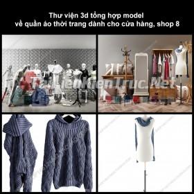 Thư viện 3D tổng hợp Model về quần áo thời trang dành cho cửa hàng, shop 8